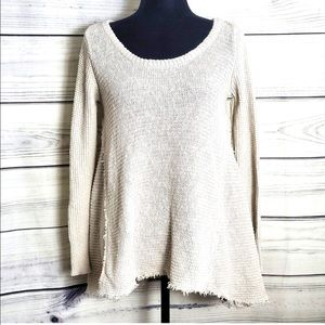 Blue Moon Anthropology Knit Boho Hi Lo Sweater